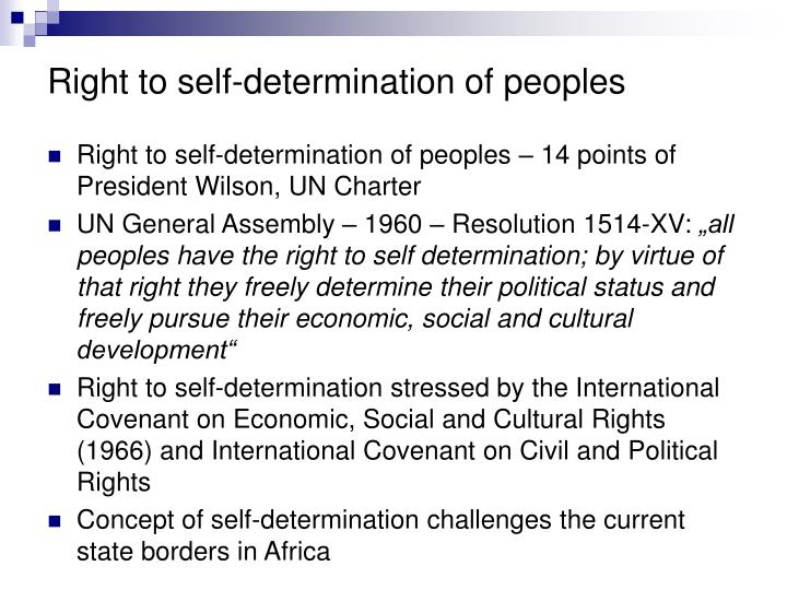 Right to self-determination of peoples