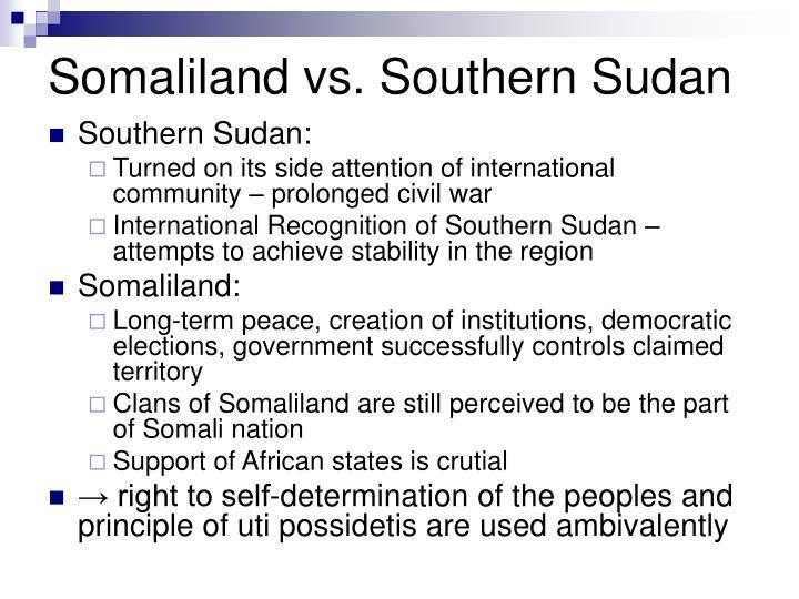 Somaliland vs. Southern Sudan