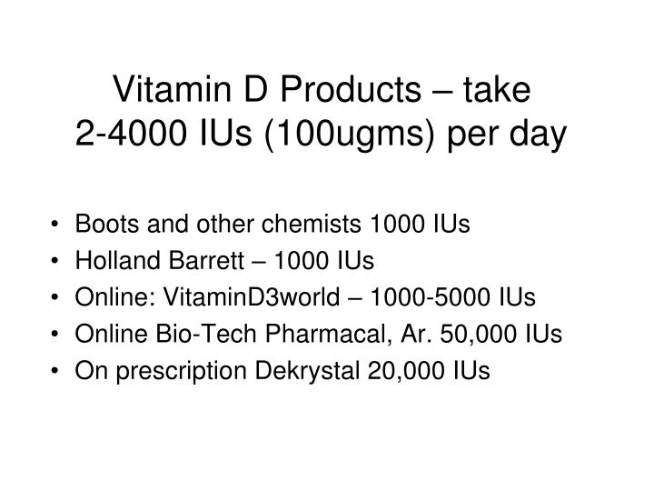 Vitamin D Products – take