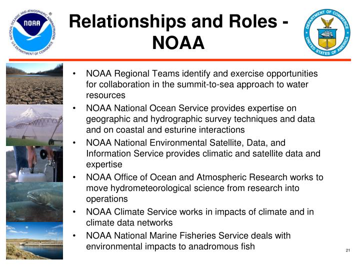 Relationships and Roles - NOAA