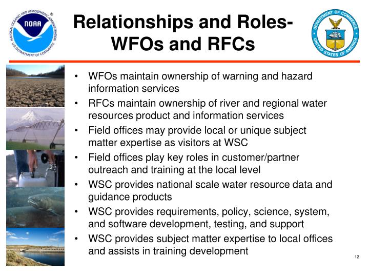 Relationships and Roles- WFOs and RFCs