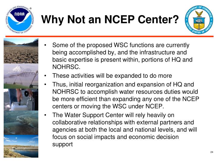 Why Not an NCEP Center?