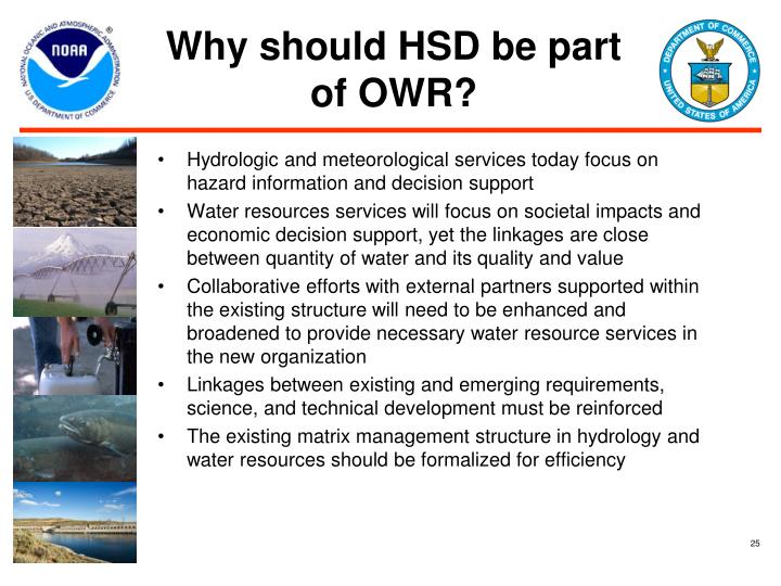 Why should HSD be part of OWR?