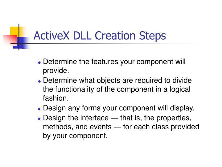 ActiveX DLL Creation Steps