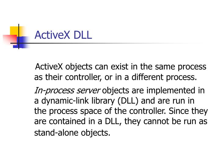 ActiveX DLL