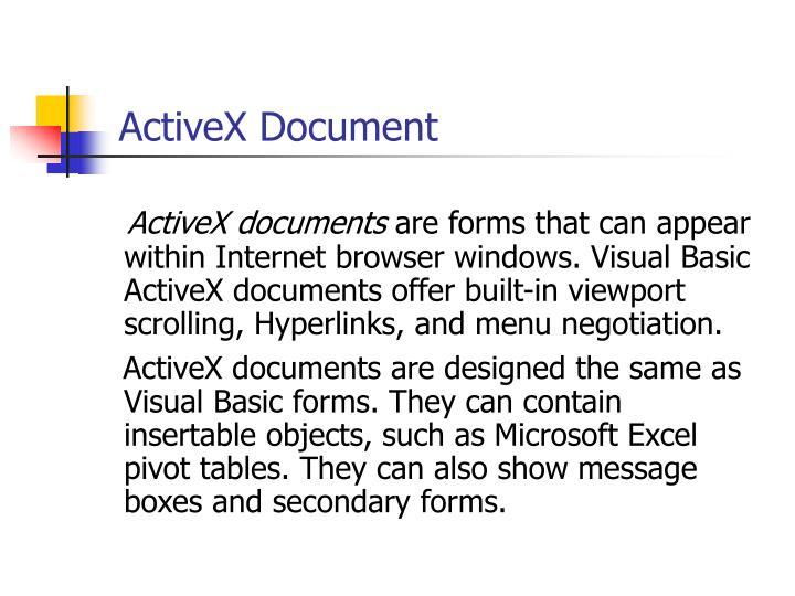 ActiveX Document