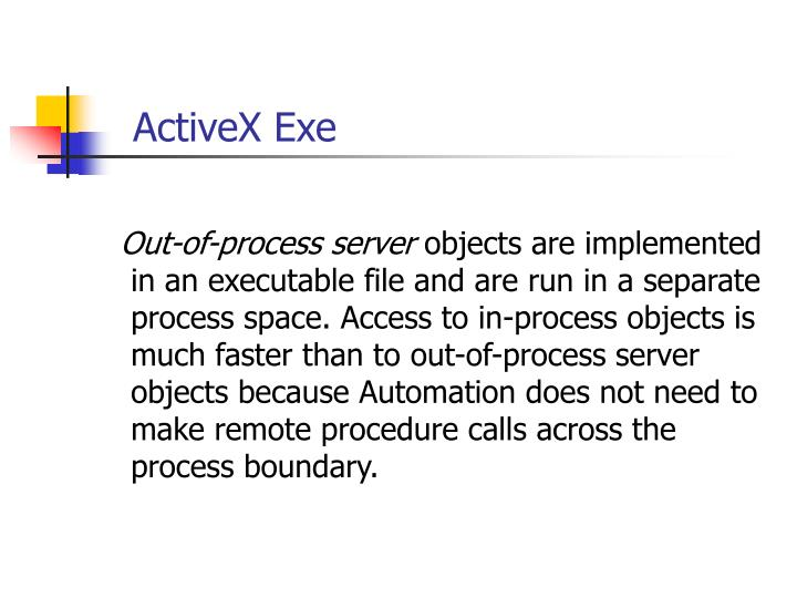 ActiveX Exe