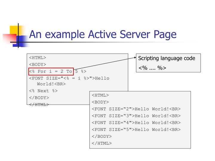 Scripting language code