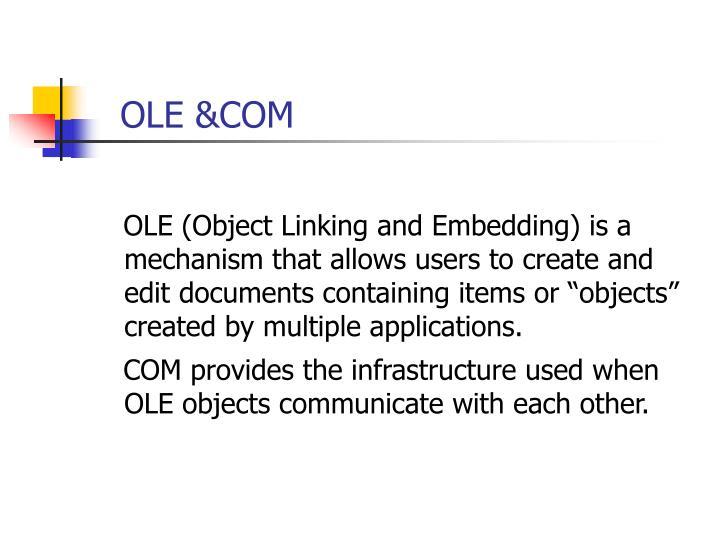 OLE &COM