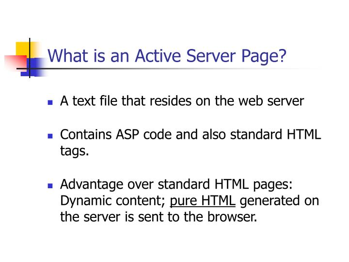 What is an Active Server Page?