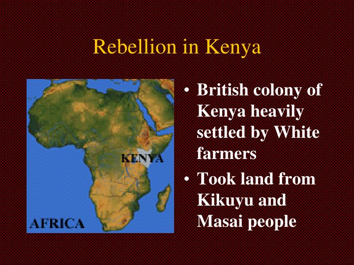 Rebellion in Kenya