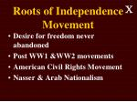 roots of independence movement