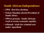south african independence