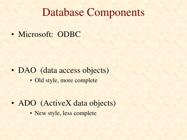 Database Components