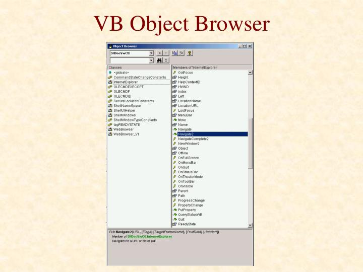 VB Object Browser