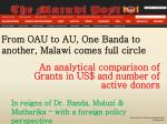 from oau to au one banda to another malawi comes full circle