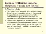 rationale for regional economic integration what are the benefits1
