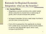 rationale for regional economic integration what are the benefits3