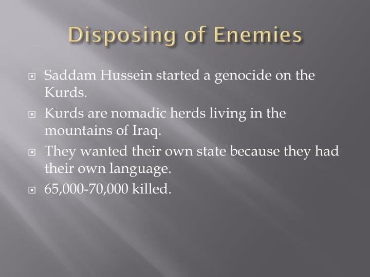 Disposing of Enemies