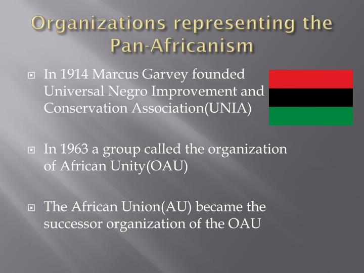 Organizations representing the Pan-Africanism