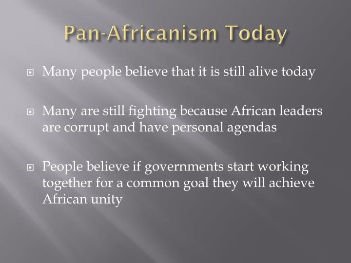 Pan-Africanism Today