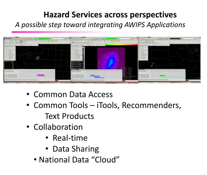 Hazard Services across perspectives