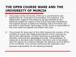 the open course ware and the university of murcia1