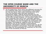 the open course ware and the university of murcia2
