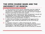the open course ware and the university of murcia4