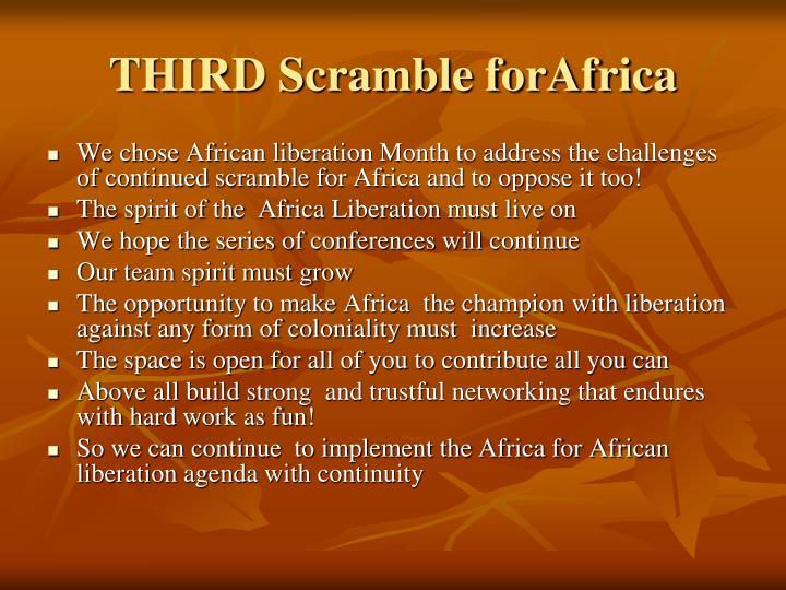 THIRD Scramble forAfrica