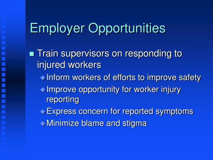 Employer Opportunities