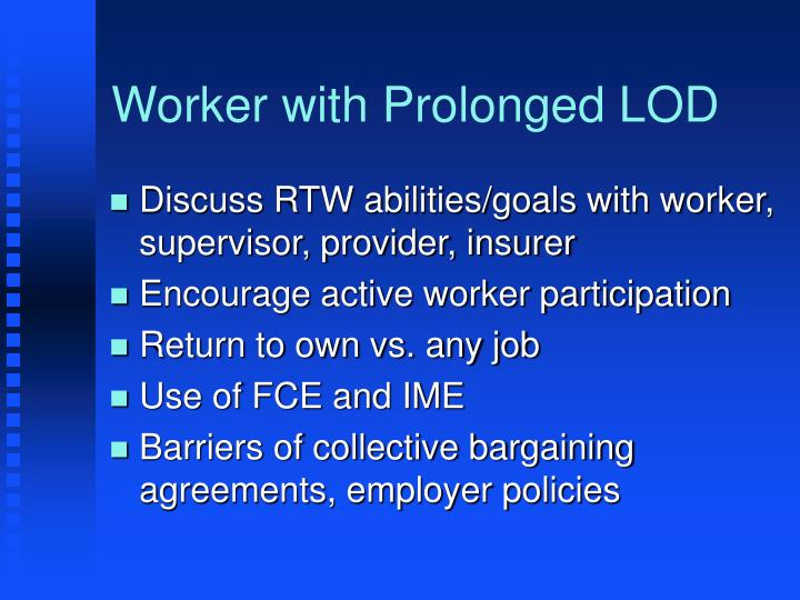 Worker with Prolonged LOD