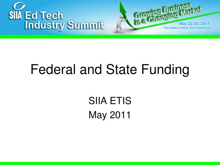 federal and state funding
