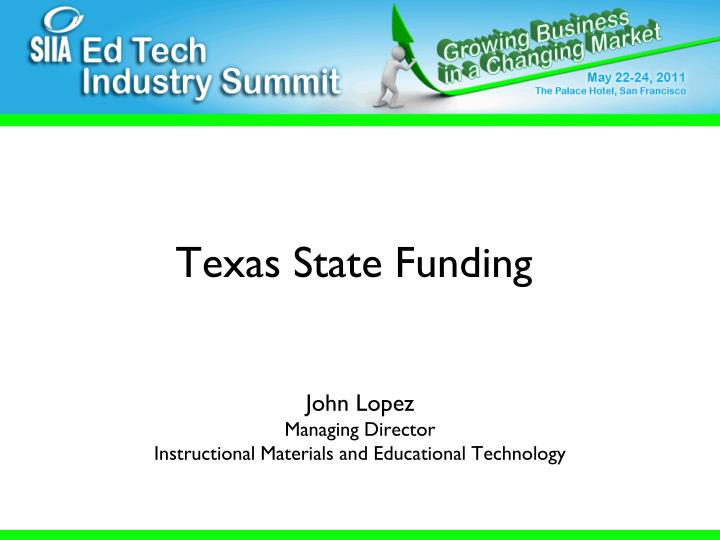Texas State Funding