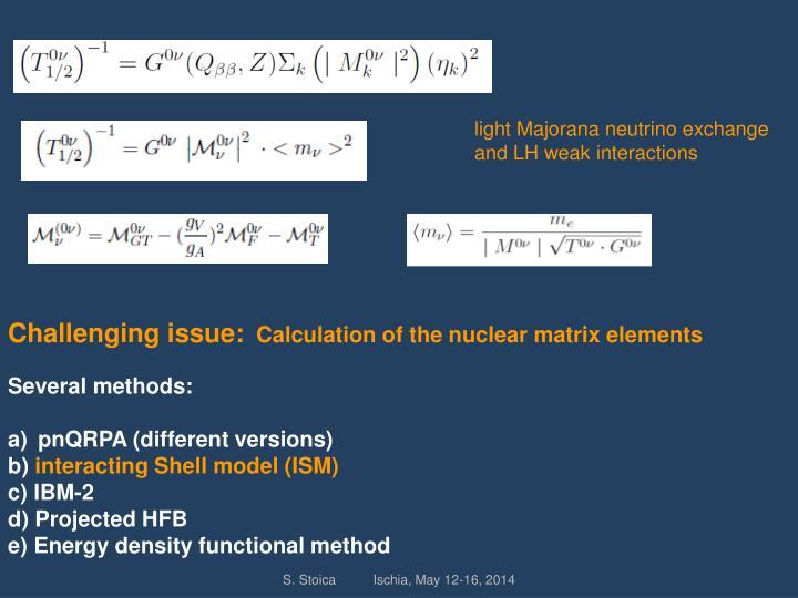 light Majorana neutrino exchange