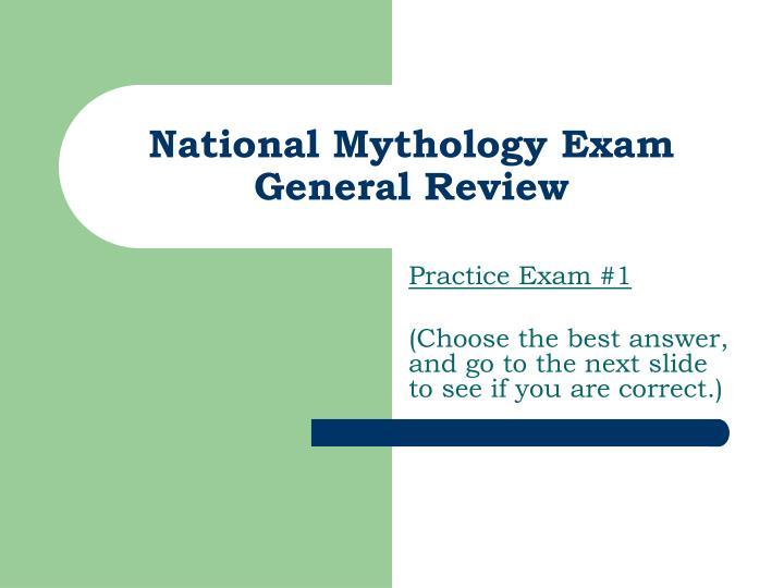 National Mythology Exam