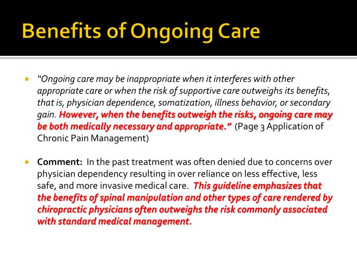 Benefits of Ongoing Care