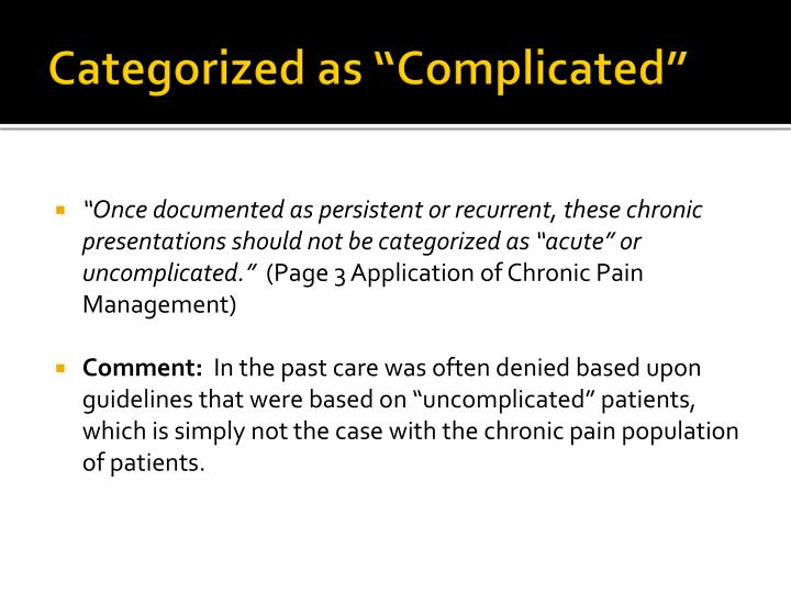"""Categorized as """"Complicated"""""""