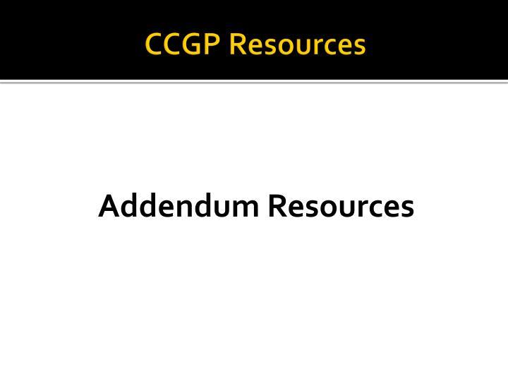 CCGP Resources