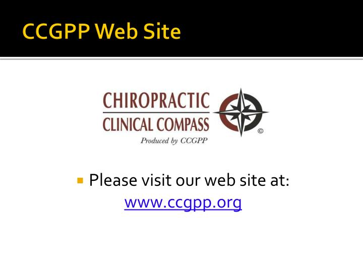 CCGPP Web Site
