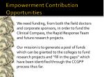 empowerment contribution opportunities