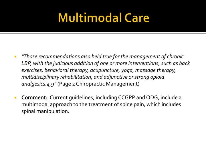 Multimodal Care