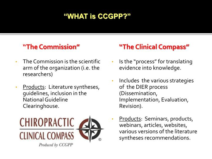 """""""WHAT is CCGPP?"""""""