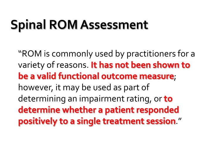 Spinal ROM Assessment
