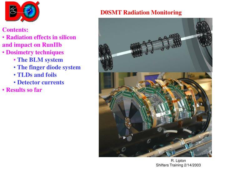 d0smt radiation monitoring