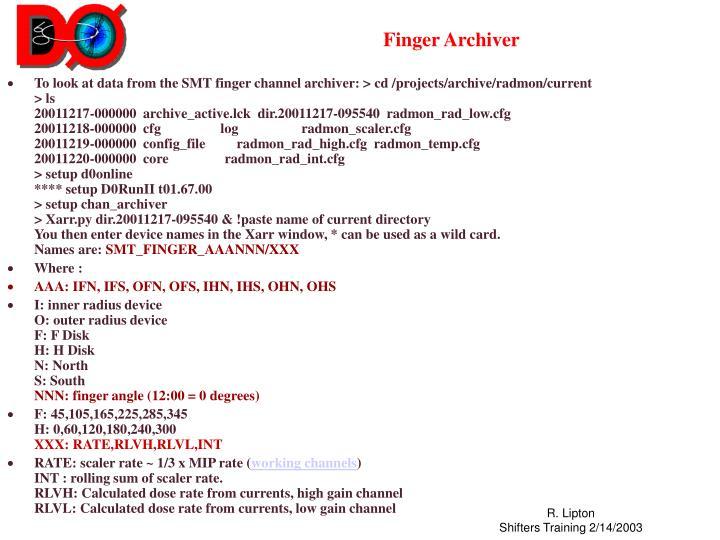 Finger Archiver