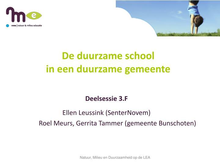 de duurzame school in een duurzame gemeente