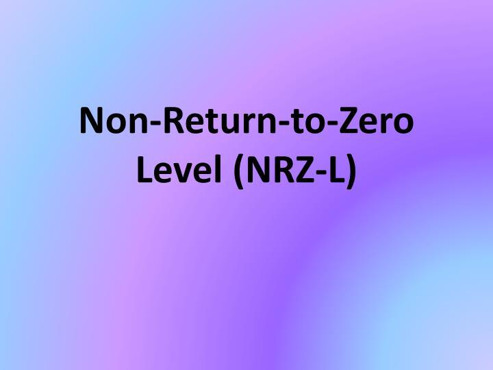 Non-Return-to-Zero