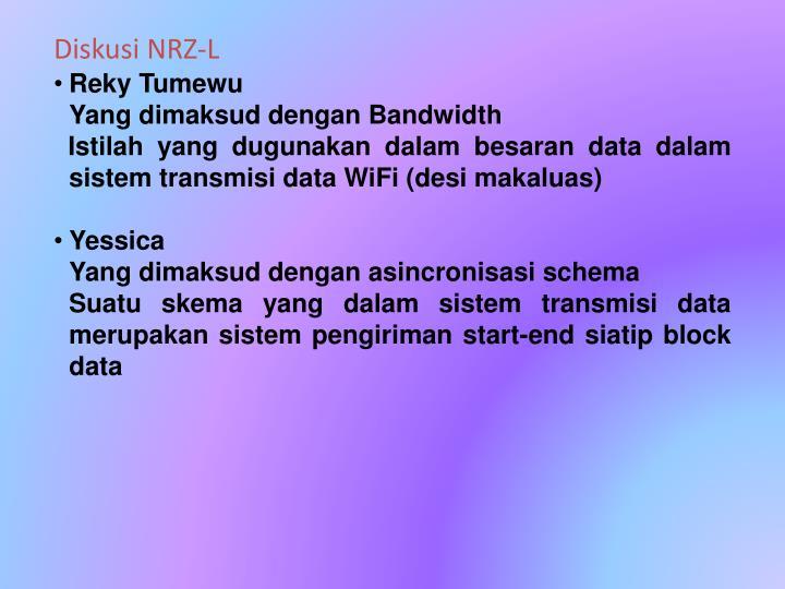 Diskusi NRZ-L