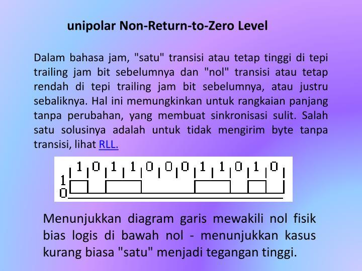 unipolar Non-Return-to-Zero Level